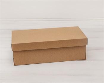 Коробка из плотного картона, 30,5х16х10 см, крышка-дно, крафт