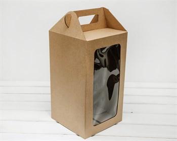 УЦЕНКА Коробка для кукол, с окошком и ручкой, 36х20х20 см, крафт