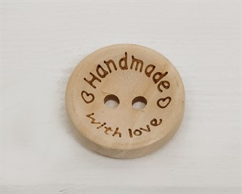 Пуговица деревянная, HANDMADE, 20 мм