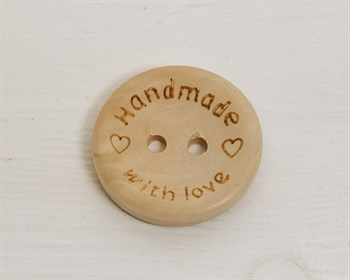 Пуговица деревянная, HANDMADE, 25 мм